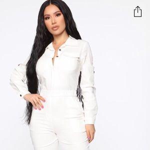 New with tags cream aviator babe fashion nova suit